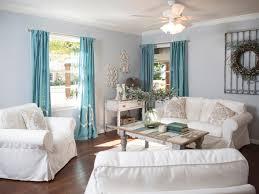 Image Of Coastal Window Treatments Livingroom