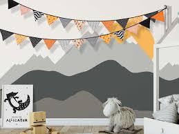 Halloween Pennant Mantel Scarf by Amazon Com 24 Pcs 23 Feet Halloween Fabric Banner Colored Pennant