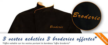 veste de cuisine homme brodé veste de cuisine personnalisée brodée broderie manelli