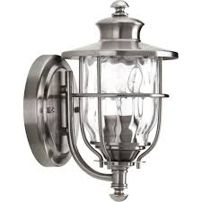 progress lighting beacon collection 1 light 8 inch stainless steel