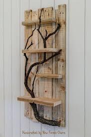 100 Tree Branch Bookshelves Rustic Home Decor Wall Art Reclaimed Pallet Shelves Wooden Home