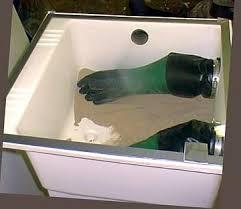Diy Sandblast Cabinet Vacuum by A Homemade Sandblast Booth