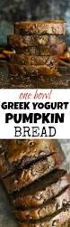 Libbys Pumpkin Bread Recipe Cranberry by One Bowl Greek Yogurt Pumpkin Bread Running With Spoons