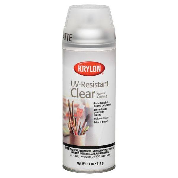 Krylon Artist UV-Resistant Spray Paint - Clear Matte, 11oz