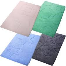 badteppich 60x100cm baumwolle badezimmerteppich grün blau beige oder anthrazit marabella s shop