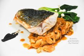 cuisine bar poisson filets de bar ou loup sauvage fenouil et gastrique d orange