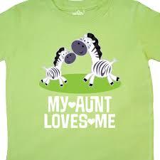 Inktastic My Aunt Loves Me Zebra Zoo Animal Toddler TShirt Niece