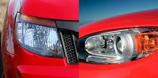headlights explained halogen v hid v led v laser
