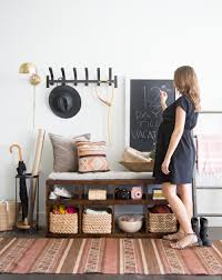 Entryway Makeover Tips & Tricks With Camille Styles Workspace Pbteen Desk Pottery Barn Office Fniture Entryway A Smallspace Makeover And Small Spaces Best 25 Barn Entryway Ideas On Pinterest Bench Cushion Awesome House Storage System And Shelf Samantha With Mudroom Surprising Table Entrancing Eclectic Console Tables Ideas On
