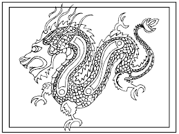 Chinese New Year Coloring Pages Dragon Printable In Page