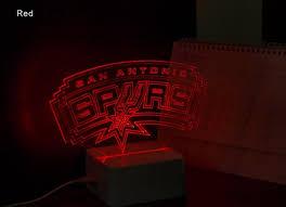 nba san antonio spurs 3d led light l tshirtnow