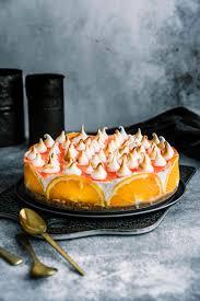 aperol spritz torte mit baiserhaube