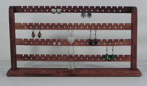 Merlot Stained Wood Earring 148 Pc Jewelry Rack Display