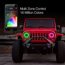 XKchrome Jeep Headlight + RGB Halo Ring - Jeep Off-Road 7