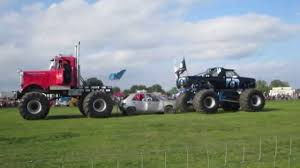 Monster Truck Tug Of War - RIP Little French Car - YouTube