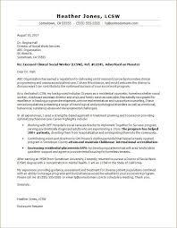 Social Work Cover Letter