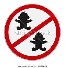 No Kids Allowed Sign Vector