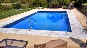 swimming pool rectangular cheap inground pool with brick motif