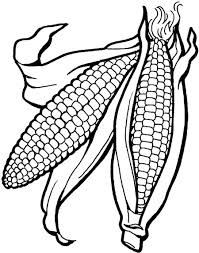 Pictures Vegetables Corn Is Good For The Body Coloring Kids