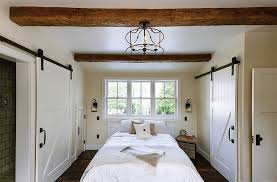 Exposed Wooden Beams For A Rustic Bedroom