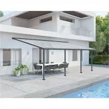 Palram Patio Cover Grey by Palram Olympia Patio Cover 3m X 7 3m Grey On Sale Free Uk Delivery