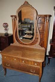 Tiger Oak Serpentine Dresser by Mahogany Sideboard Server By