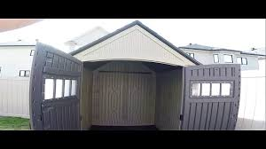 Rubbermaid 7x7 Storage Building Assembly Instructions by Rubbermaid Roughneck 7 X 7 Shed Build Timelapse U0026 Walkaround