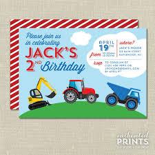 100 Truck Birthday Invitations Construction Party Invitation Invitation Etsy