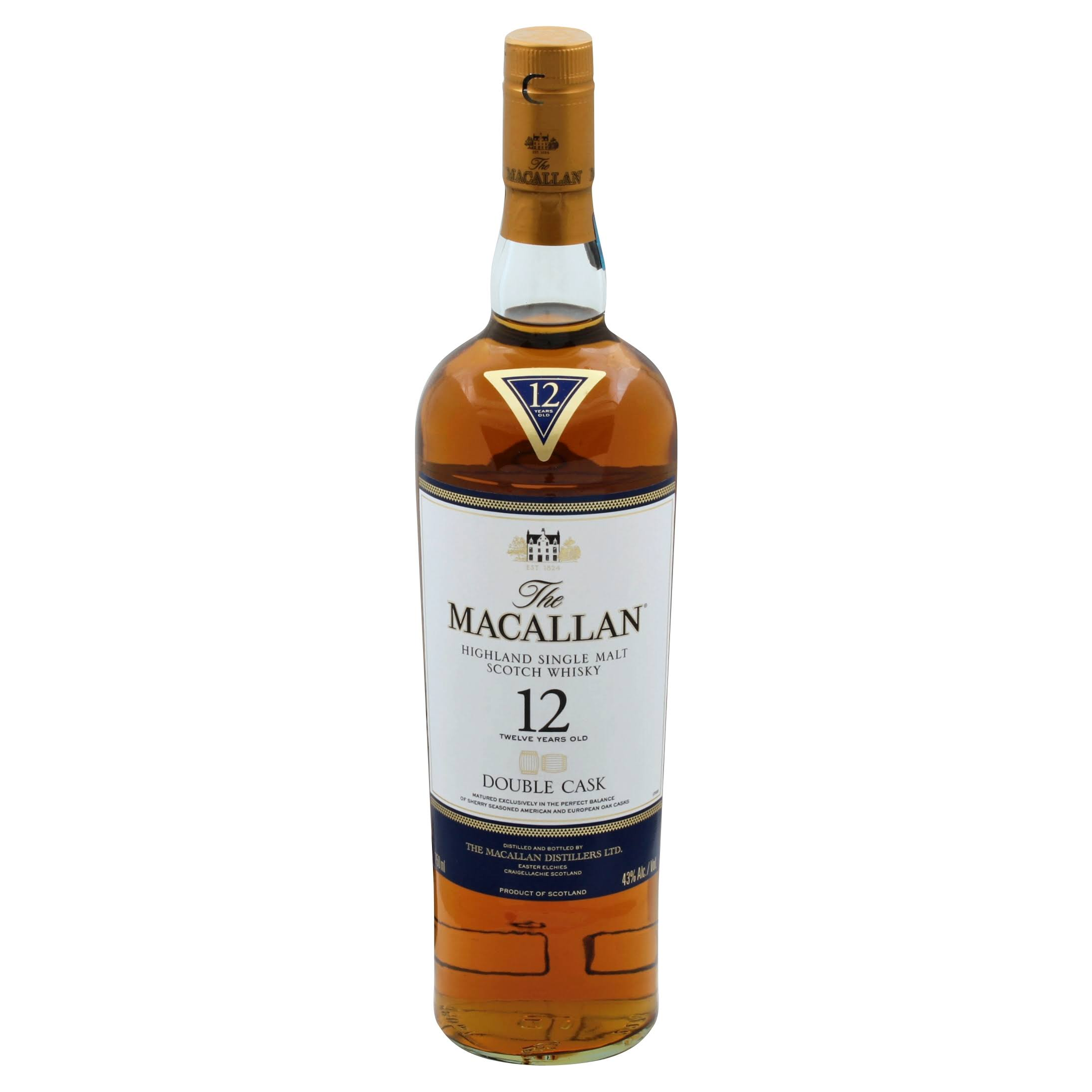 Macallan 12 Year Old Double Cask Whiskey - 750 ml bottle