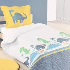 kinder bettwäsche dinosaurier 100 baumwolle grau blau gelb grün 140x200cm