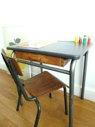 bureau ecolier en bois bureau ecolier bois bureau pupitre bois bureau maternelle vintage