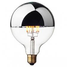 silver crown led edison globe bulb g125 e27 dimmable cablelovers