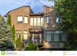 100 Modern Townhouses Expensive With Huge Windows Stock Photo