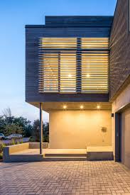 100 Modern Cedar Siding Honed ConcreteBlock Walls And GreyStained Are