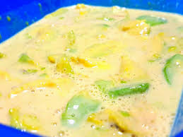 Machine Shed Loaded Baked Potato Soup scooped avocado w condensed milk a filipino dessert or snack