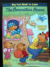 Berenstain Bears Christmas Tree Coloring Page by Dollar Tree Disney Coloring Books Alltoys For