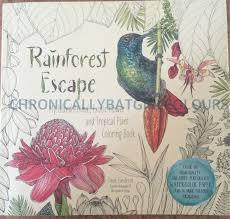 Rainforest Escape Jade Gedeon Coloring Book Watercolor Paper Review