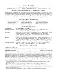 Networking Resume Objective Objectives