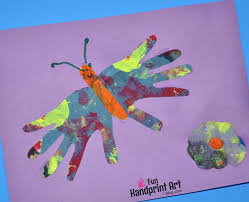 Newspaper Craft Handprint Butterfly