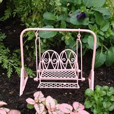 Jopaz Enchanted Garden Metal Swing Pink