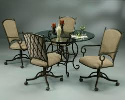 Dining Chair Cushions Target by Swivel Dining Chairs With Wheels W Casters Chair And Brakes Casual