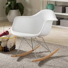 Baxton Studio Dario Mid Century White Plastic Finished Rocking Chair ... Mainstays Outdoor 2person Double Rocking Chair Walmartcom Modern White Tipp City Designs Buy Edgemod Em121whi Rocker Lounge In At Contemporary On The Back Side Isolated Background 3d Model Aosom Hcom Wood Indoor Porch Fniture For Grey And Illum Wikkelso Mid Century Wire Mesh By For Sale Black And Dcor The Lifestyle I Like White Plastic Rocking Chair Brighton East Sussex Gumtree Design Classic Eames Set