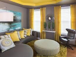 astonishing yellow and gray living room living room grey poofs