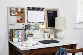DIY Home Office Desk With Wall Organizer System And Vintage Style Books