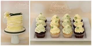 Wedding Cutting Cake And Cupcakes