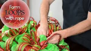 DIY Deco Mesh Christmas Ball Wreath