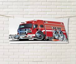 100 Fire Truck Cartoon Amazoncom Anniutwo CarsTravel TowelBig Emergency