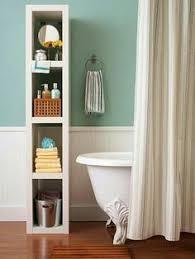 bright basement bathroom makeover diy floating wood shelves