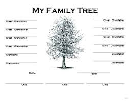 Fill In The Blank Family Tree Template With Printable 5 Generation Chart Generations Strand Direction Free