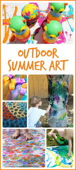 15 Awesome Outdoor Summer Art Projects These Would Be So Much Fun For Camp